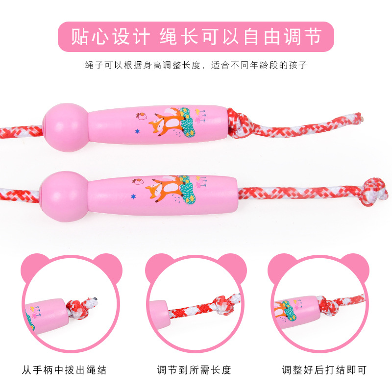 Children Sports Young STUDENT'S Adjustable Cotton Rope Baby Boys And Girls Jump Rope Beginners