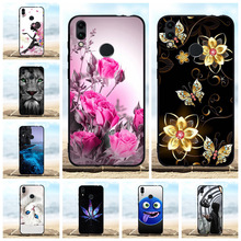 For Huawei Honor 8C Case Soft TPU Silicone BKK-LX2 BKK-LX1 BKK-L21 Cover Floral Patterned Coque