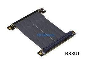 Image 4 - PCIE 3.0 ケーブル Pc e 16X x16 にアダプタケーブルグラフィックスビデオカード延長 90 度アングルデザイン ITX マザーボードシャーシ