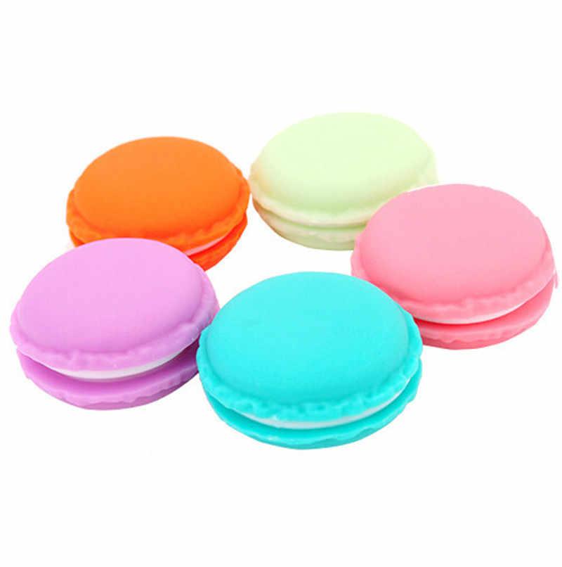 6 Stuks Clips Dispenser Macaron Opbergdoos Candy Organizer Briefpapier Kantoor Schoolbenodigdheden 4*2Cm