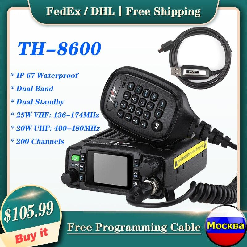 TYT VHF UHF Radio-Station Mobile-Radio Dual-Band TH-8600 Amateur Communciator Mini Waterproof