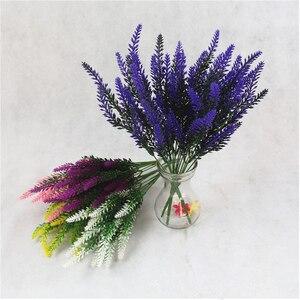 Image 3 - 1 bunch Artificial lavender rayon flower desktop fake flower arrangement decoration wedding party decoration Photo props