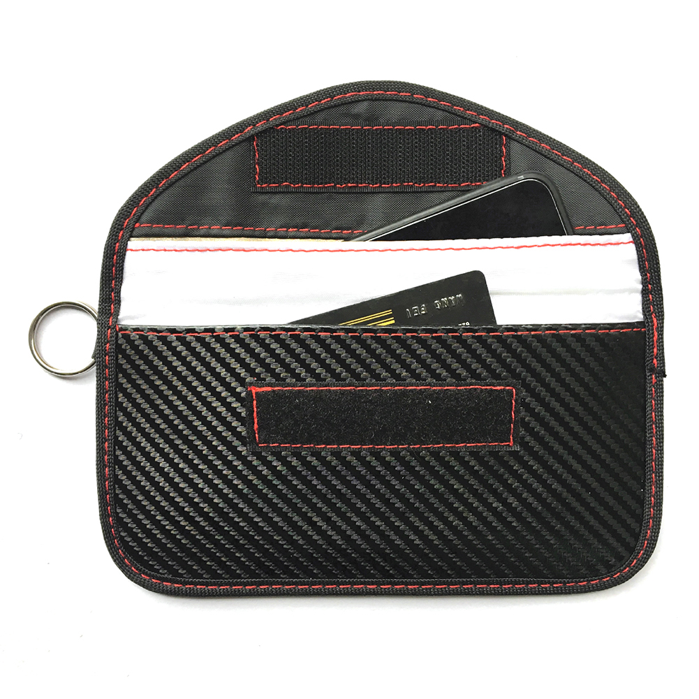 Carbon Fiber Signal Blocking Bag Faraday Bag Shield Cage Pouch Wallet Phone Case For Cell Phone Privacy Protection Car Key FOB