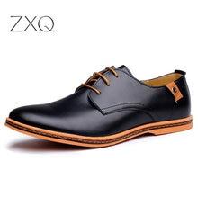 Повседневные мужские кожаные туфли модные мужские туфли на плоской подошве с круглым носком удобные мужские модельные туфли для офиса размера плюс 38-48