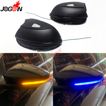 For VW Passat B7 CC Scirocco Jetta MK6 EOS Beetle LED Dynamic Turn Signal Blinker Sequential Side Mirror Indicator Light