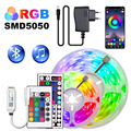 Led Strip Light 5m-30m 5050 RGB Flexible Ribbon LED Tape Room Decoration Neon Lamps Set Wall Backlight Ribbon 12V With Adapter
