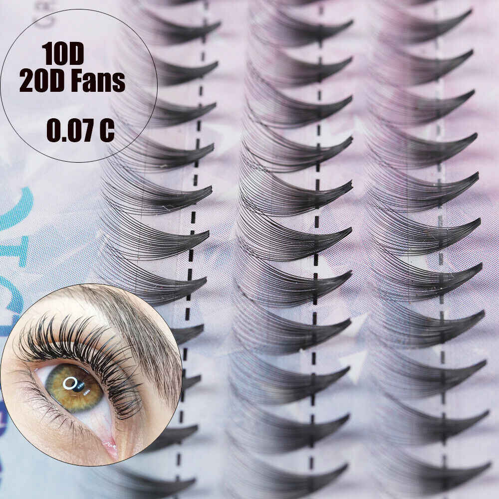 60 Cluster 10D/20D Eyelash Extensions 0.07mm Thickness Faux Mink Eyelashes Individual Lashes Beauty Cosmetic Tools Tweezer