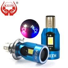 KEIN חדש עיני מלאך COB אופנוע פנס נורות H4 Led H6 ba20d HS1 LED אופנוע ראש מנורת קטנוע אביזרי ערפל אור 25W