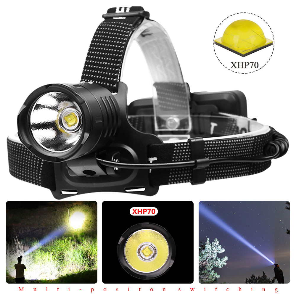 90000LM XHP50 LED Fashlight Zoom Torch USB Lantern Camping Fishing Lamp 3 Modes