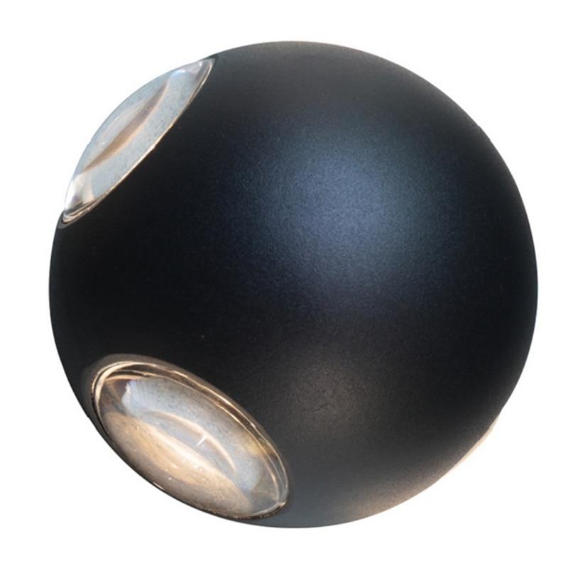 Led Wall Lamp 12W Cross Ball Lighting Indoor Wall Lamp Modern Bedroom Hotel Lamp (Warm White Light)