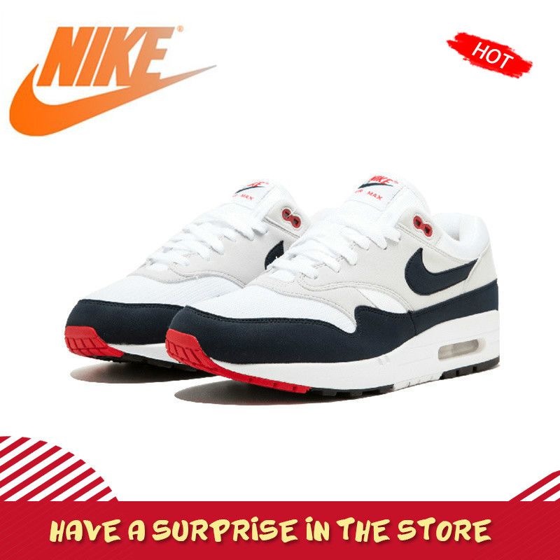 Original Authentic Nike AIR MAX 1 ANNIVERSARY Men's Running Shoes Outdoor Sneakers Absorbing Lightweight New Arrival 908375-104