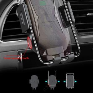 Image 2 - Беспроводное зарядное устройство, автомобильный держатель для телефона, индукционный умный датчик Qi, подставка для быстрой зарядки для Samsung S10 Note 10 iPhone 11 Pro Max