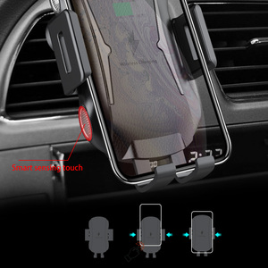 Image 2 - Soporte para cargador de coche inalámbrico, sujeción automática, 10W, 7,5 W, Qi, carga rápida, soporte de teléfono para iPhone X, Samsung, Xiaomi, Huawei