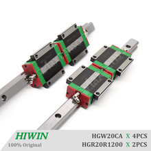 HIWIN HGW20CA 1200mm Linear Guideways set with ballscrew Blocks HGR20 Linear Guide Rail CNC Machine Parts Linear Bearing