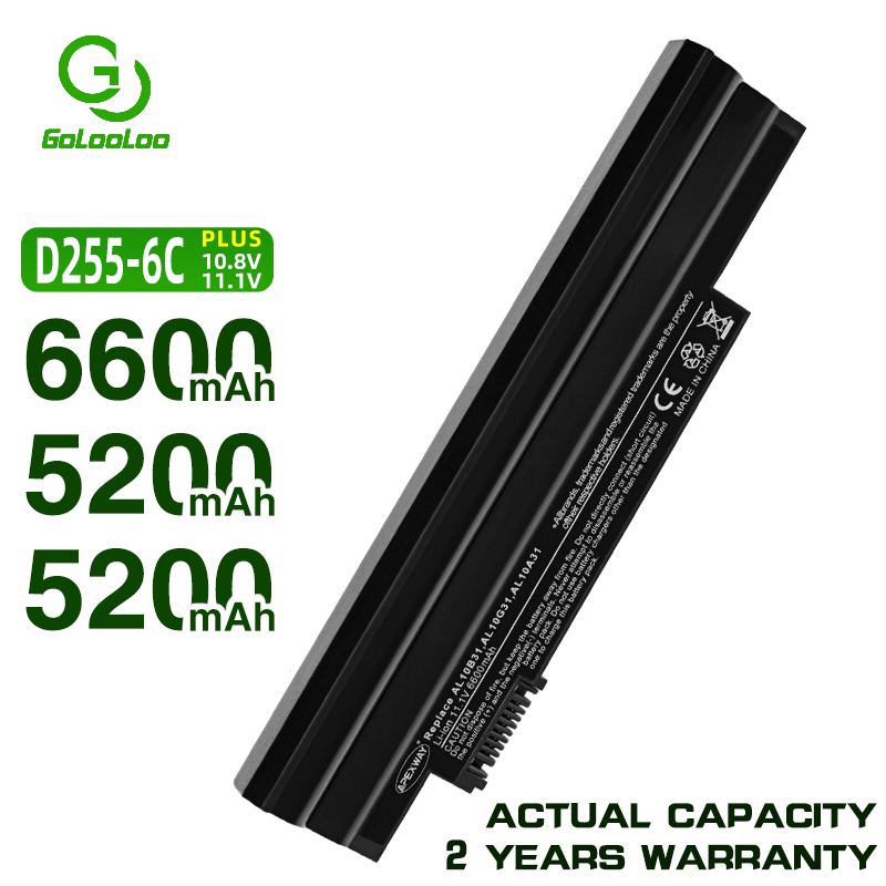 Golooloo 6 cells white <font><b>battery</b></font> for <font><b>Acer</b></font> <font><b>Aspire</b></font> AL10A31 AL10B31 AL10G31 <font><b>One</b></font> 522 D255 <font><b>722</b></font> AOD255 AOD260 D257 D255E D260 D270 image