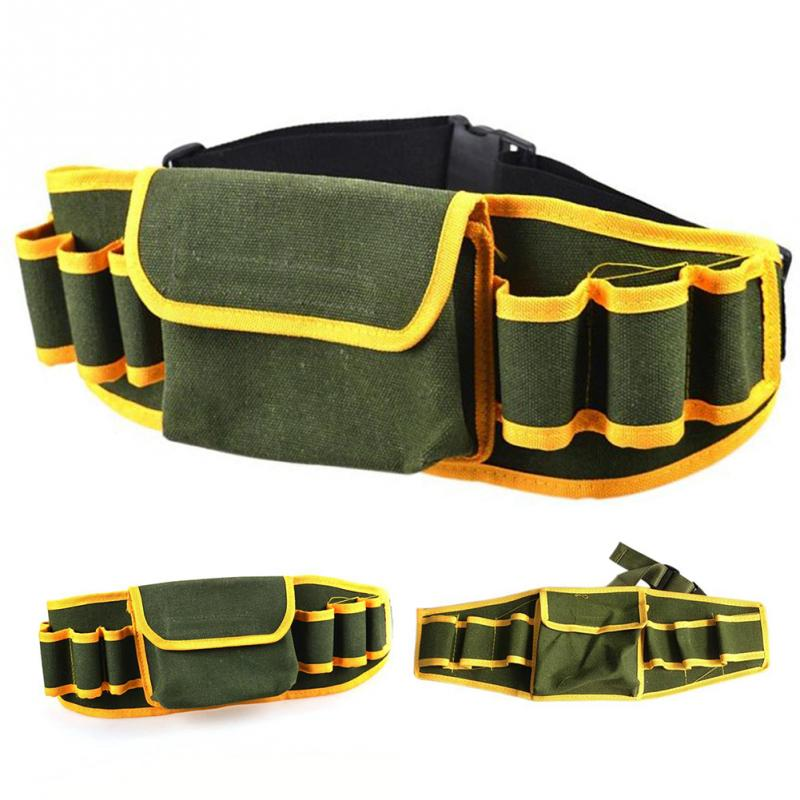 Hardware Mechanic Canvas Bag Electrician Multifunction Pouch Holder Belt Packs Work Tool Kit Waist Bag Tools