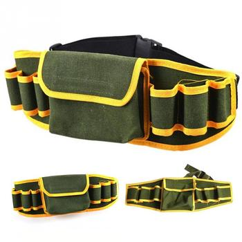 цена на Hardware Mechanic Canvas Bag Electrician Multifunction Pouch Holder Belt Packs Work Tool Kit Waist Bag Tools