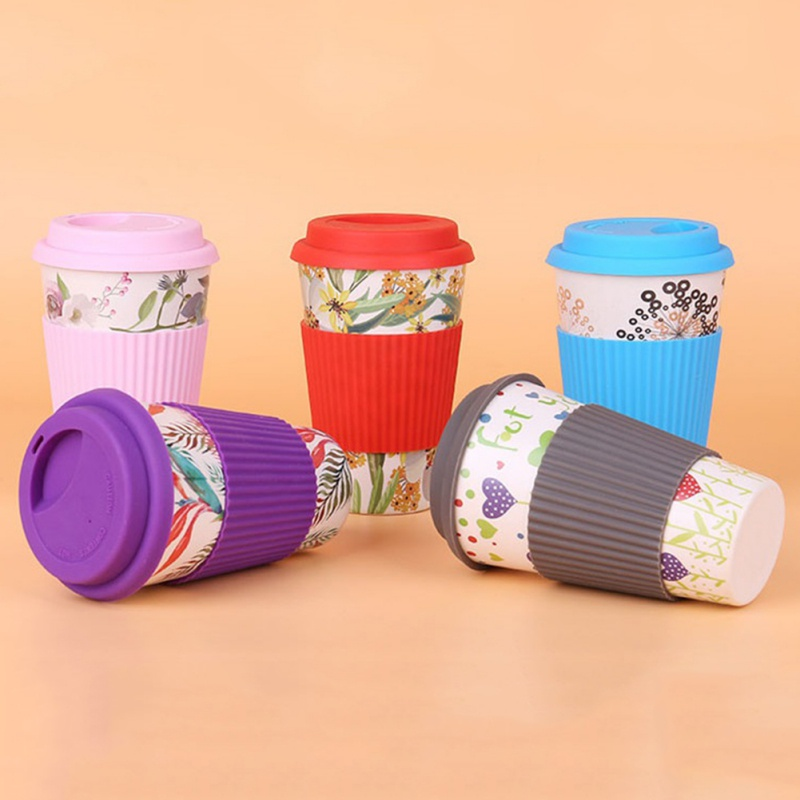Bamboo Travel Cup Drinking Mug Coffee Beer Cup Teacups Glass Eco-friendly