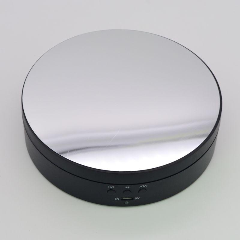3 geschwindigkeiten Elektrische Rotierenden Display-ständer Spiegel Plattenspieler Schmuck Halter Batterie/USB Power