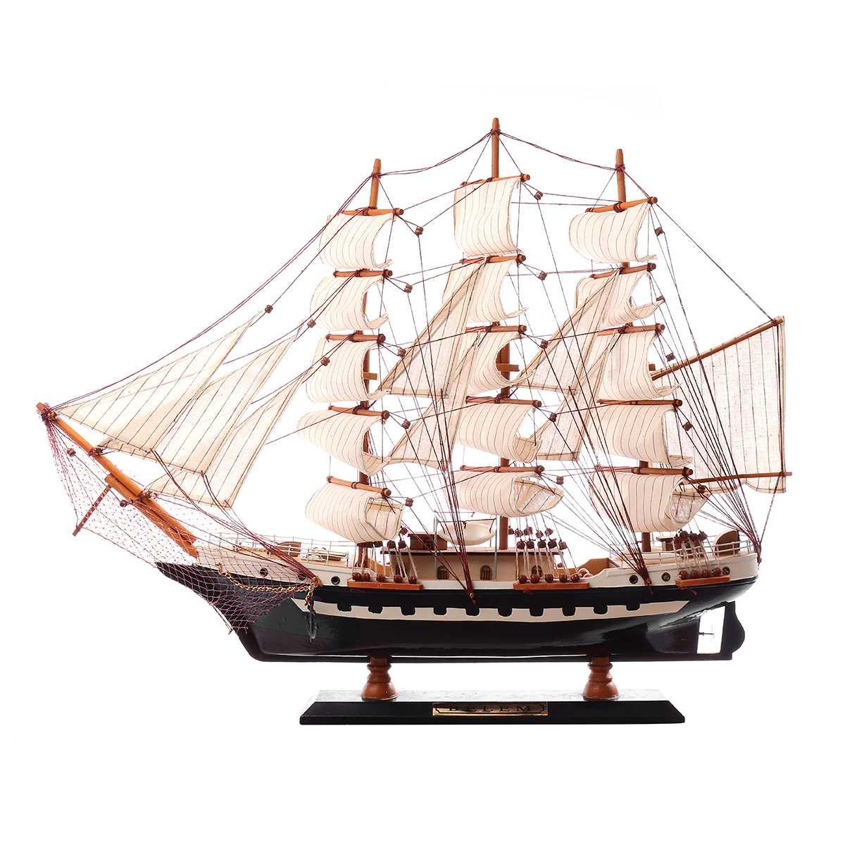 65cm Houten Zeilboot Model Zeilschip Display Schaal Boot Decoratie Gift Kits Montage Model Building Kits Geschenken Decoratie - 2