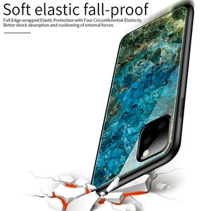 Image 5 - 100pcs/lot For iPhone 11 Pro Max Hard Tempered Glass Marble Gradient Back Soft Side Case For iPhone 11