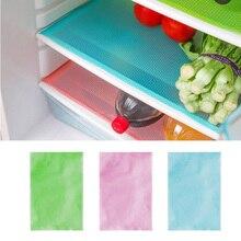 Feiqiong 4 قطعة وسادة الثلاجة لون نقي مضاد للجراثيم مانعة للحشف العفن مقاومة للرطوبة وسادة الثلاجة حصيرة لوازم المطبخ