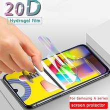 Filme Para Samsung Galaxy M31 hidrogel A51 A71 A50 A70 Protetor de Tela Para Samsung A01 A10 A11 A30 A40 A70 M11 M21 UM 50 Não Vidro
