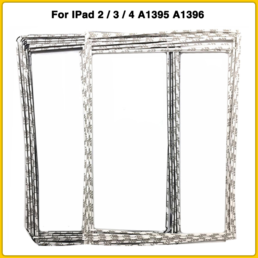 10pcs LCD Middle Frame For IPad 2 3 4 A1395 A1396 A1416 A1430 LCD Display Touch Screen Middle Bezel With Sticker Adhesive