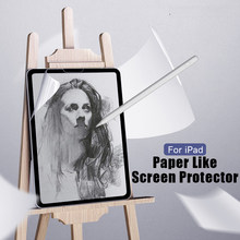 For iPad 9.7 Pro 10.5 mini 5 Face ID 11 12.9 2020 Air 4 10.2 inch Paper Like Screen Protector Film Matte PET Anti Glare Painting(China)
