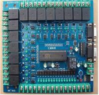 Quinze duplo porta serial 12c5a60s2 único chip microcomputador programável relé placa de controle industrial imitação plc