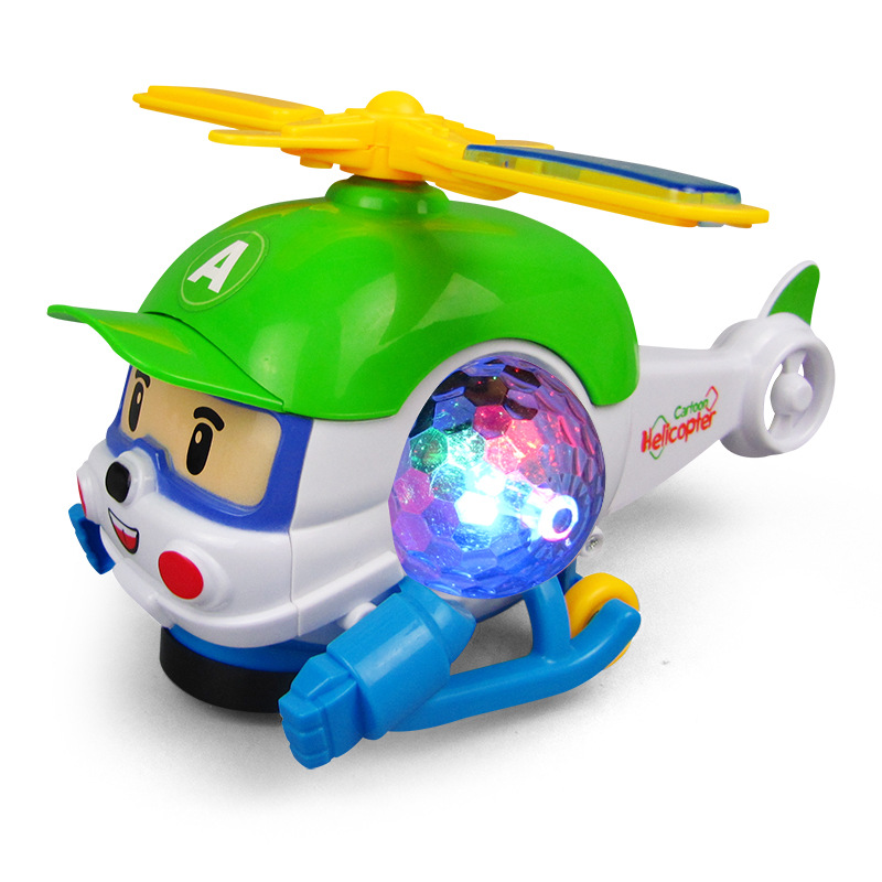 Electric Universal Music Light Aircraft Toy Helicopter Aircraft Stall Selling Flash Cartoon For Children's Gift