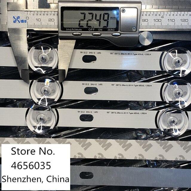 10pcs LED Backlight strip For  LG 55LF652V 55LB630V 55LB650V LC550DUH FG 55LF5610 55LF580V 55LF5800 55LB630V 55LB6300