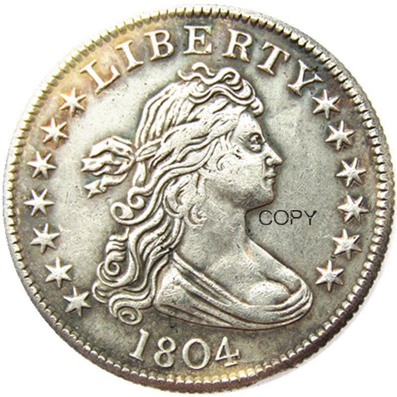 US 1804 Draped Bust Quarter Dollar Silver Plated Copy  Coin