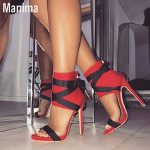 цены 2020 new summer women's shoes sexy high heels women's fashion bag with shallow mouth shoes women super high heel sandals women