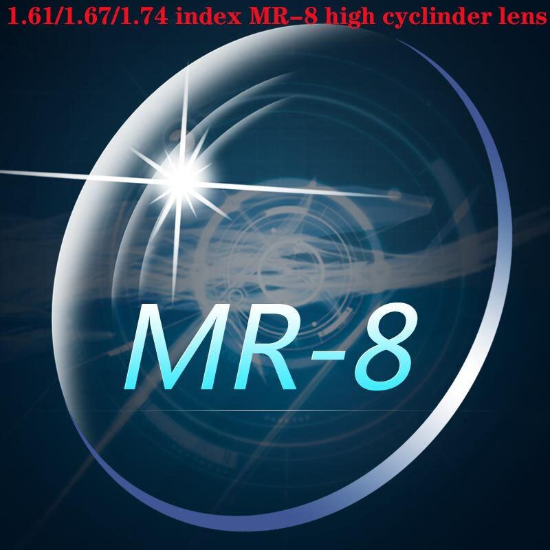 Zerosun 1.61 1.67 1.74 Indice MR-8 2 pièces Asphériques Haute Cylindre Lentilles Anti Lumière Bleue Reflètent Rayures UV400 Dioptrie Optique