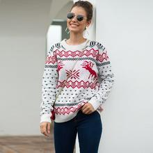 2019 Autumn Winter Sweater Women Print Christmas Knitted Sweater Casual Long Sleeve Pullover Sueter Mujer Invierno худи print bar christmas winter