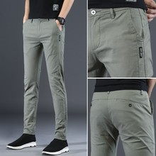 Trousers Pencil-Pants Stretch Thin Breathable Summer Slim Cotton Men Spring Youth Leisure