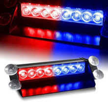 цена на DC12V 8 LED Red Yellow Blue White Car Police Strobe Flash Light auto LED Emergency Warning lamp 3 Flashing Fog Lights