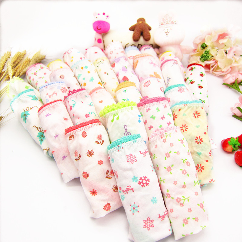 5Pcs Baby Kids  Underwear Girls Cotton Panties Girls Briefs 1-12 Years 2