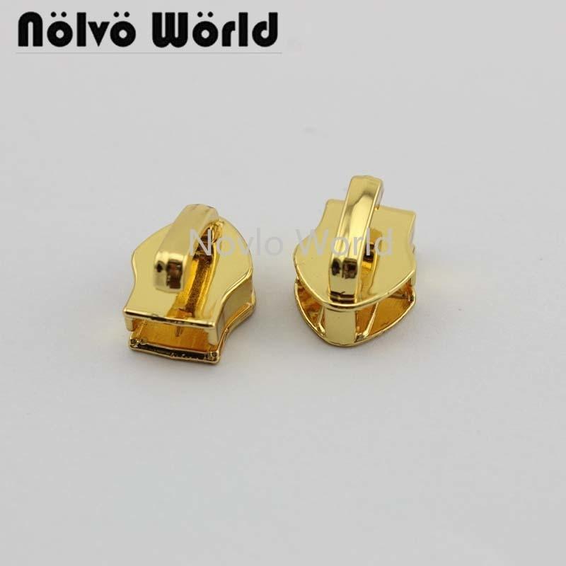 Wholesale 500pcs,4 Colors Accept Mix Color, 14*6.5mm, Metal Zipper Head Pull Slider Zip Lock Bag Luggage Garment Diy Accessories