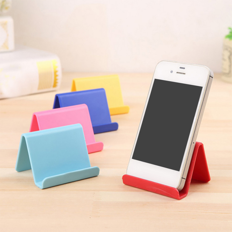 1pcs Universal Plastic Phone Holder Stand Base For IPhone 8 X For Samsung For Xiaomi Smartphone Candy Color Mobile Phone Bracket