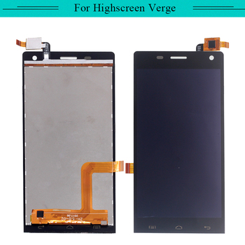 3pcs For Highscreen Verge Full LCD Display Assembly Complete with touch Screen glass digitizer Replacement Free Shipping