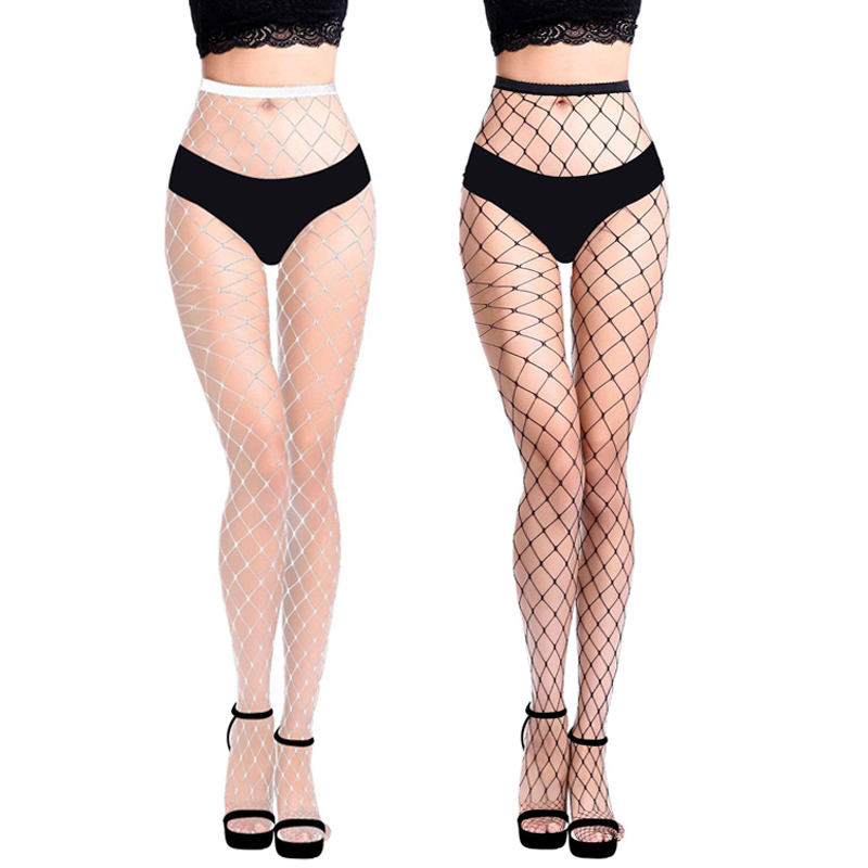 Summer Sexy Women Fishnet Pantyhose Slim Hollow Out Tight Thigh Stockings Nylon Party Club Hosiery Big/middle/small Net