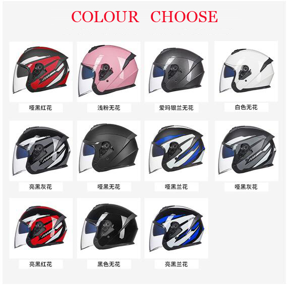 GXT New Motorcycle Helmet Moto Helmet Half Face Scooter Face Biker Motorbike Riding Helmet Double Lens for Men Women in Helmets from Automobiles Motorcycles