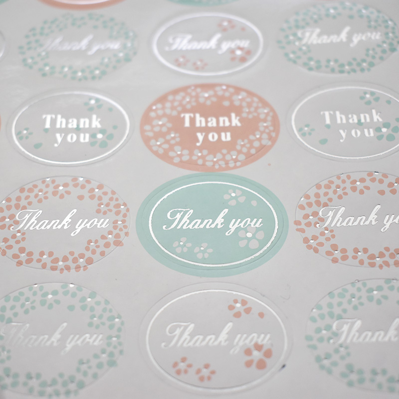 120Pcs Kawaii Label Stickers Cute Thank You Stickers Foil Adhesive Sticker For Kids DIY Decor Scrapbooking Diary Albums Supplies
