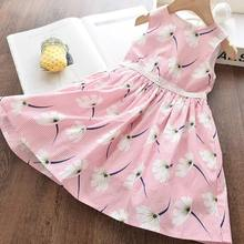 Girls Princess Dresses 2020 New Summer Kids Party Dress Girls Sweet Pattern Dress Cute Sleeveless Dress Children Clothing 3 8Y girl elegant party dress new summer kids tiered mesh dress sweet solid costumes princess suit children clothing 3 7y