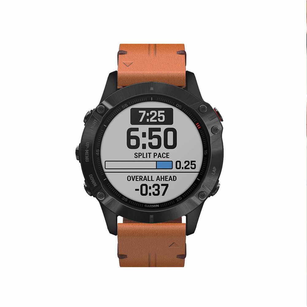 Bracelet de montre 22mm 26mm Bracelet à dégagement rapide pour Garmin Fenix 5/5 Plus/6/6 Pro Bracelet en cuir Bracelet de remplacement facile à installer