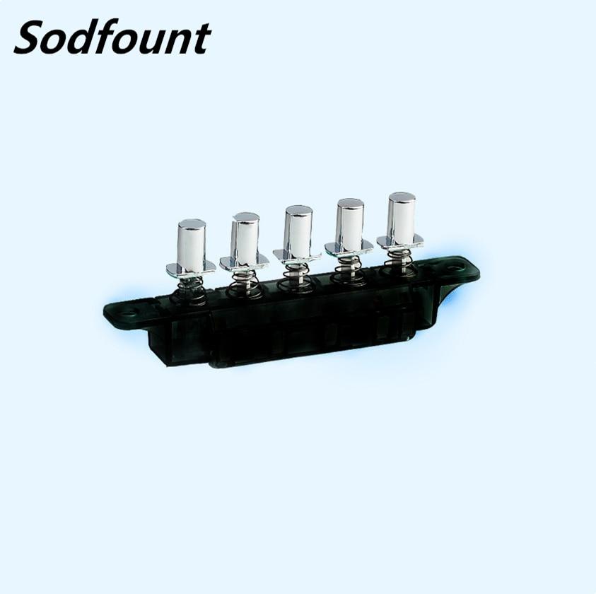 MQ165 5-клавишный переключатель 250VAC 4A/6A для кухни/радиуса/вытяжки, 5-кнопочный кнопочный переключатель клавиатуры