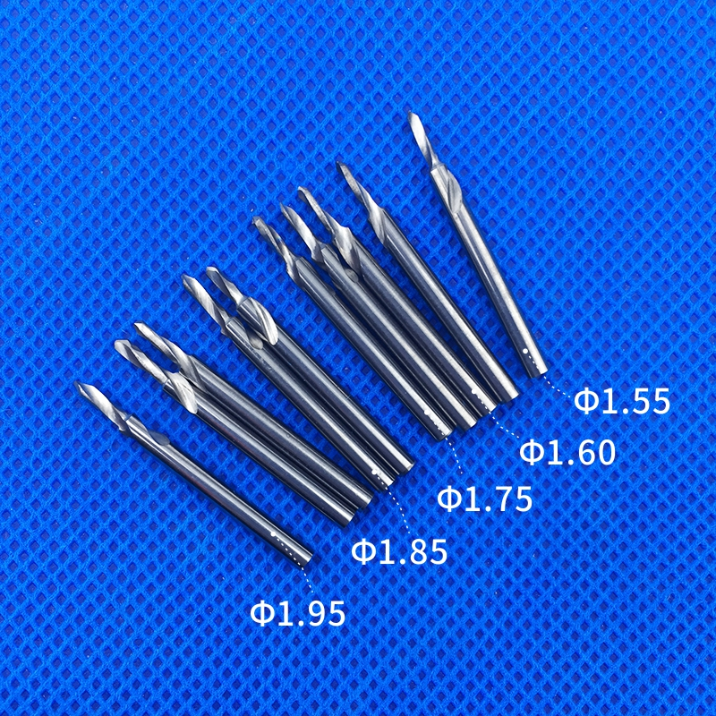2pcs Dental Lab Tungsten Steel Carbide Drill Bur Teeth Bits Pindex 1.55 1.6 1.75 1.85 1.95 2.0 3.0 Pin Planter Aiguille