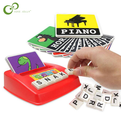 Plastic Cognitive Puzzle Cards Cardboard New Baby Educational Toys Learning English Baby Montessori Materials Math Toys GYH
